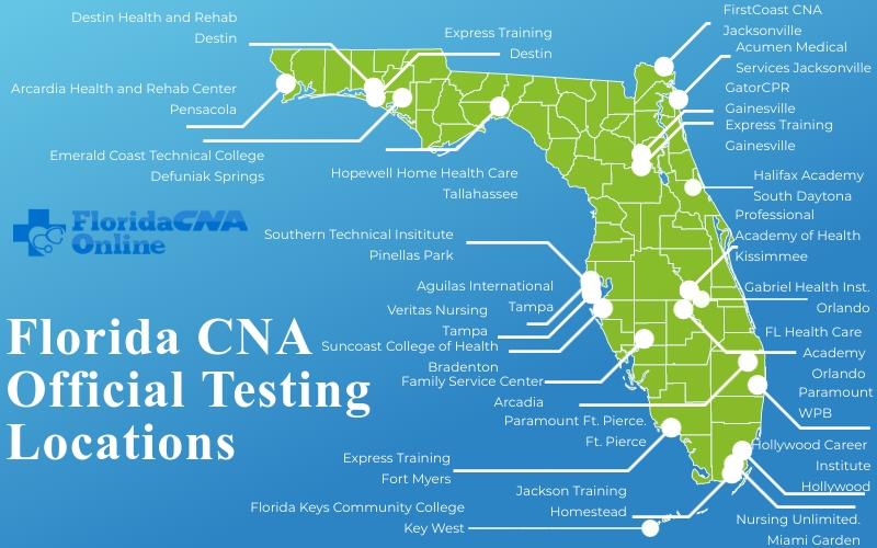 Florida cna testing locations prometric
